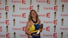 ©PHOTOPQR/LE PARISIEN ; 23/05/2016 Paris IXe France 28e Nuit des Molières du théâtre français Molière seule en scène : Andréa Bescond photo : Olivier Corsan / Le Parisien (MaxPPP TagID: maxnewsspecial046119.jpg) [Photo via MaxPPP]