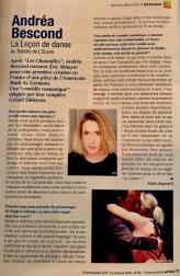 Itw Andréa Bescond - Tatouvu.mag