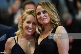 "French actress and film director Andrea Bescond (L) and French actress Carole Franck pose as they arrive on May 14, 2018 for the screening of their film ""Little Tickles (Les Chatouilles)"" at the 71st edition of the Cannes Film Festival in Cannes, southern France. (Photo by Loic VENANCE / AFP) (Photo credit should read LOIC VENANCE/AFP/Getty Images)"